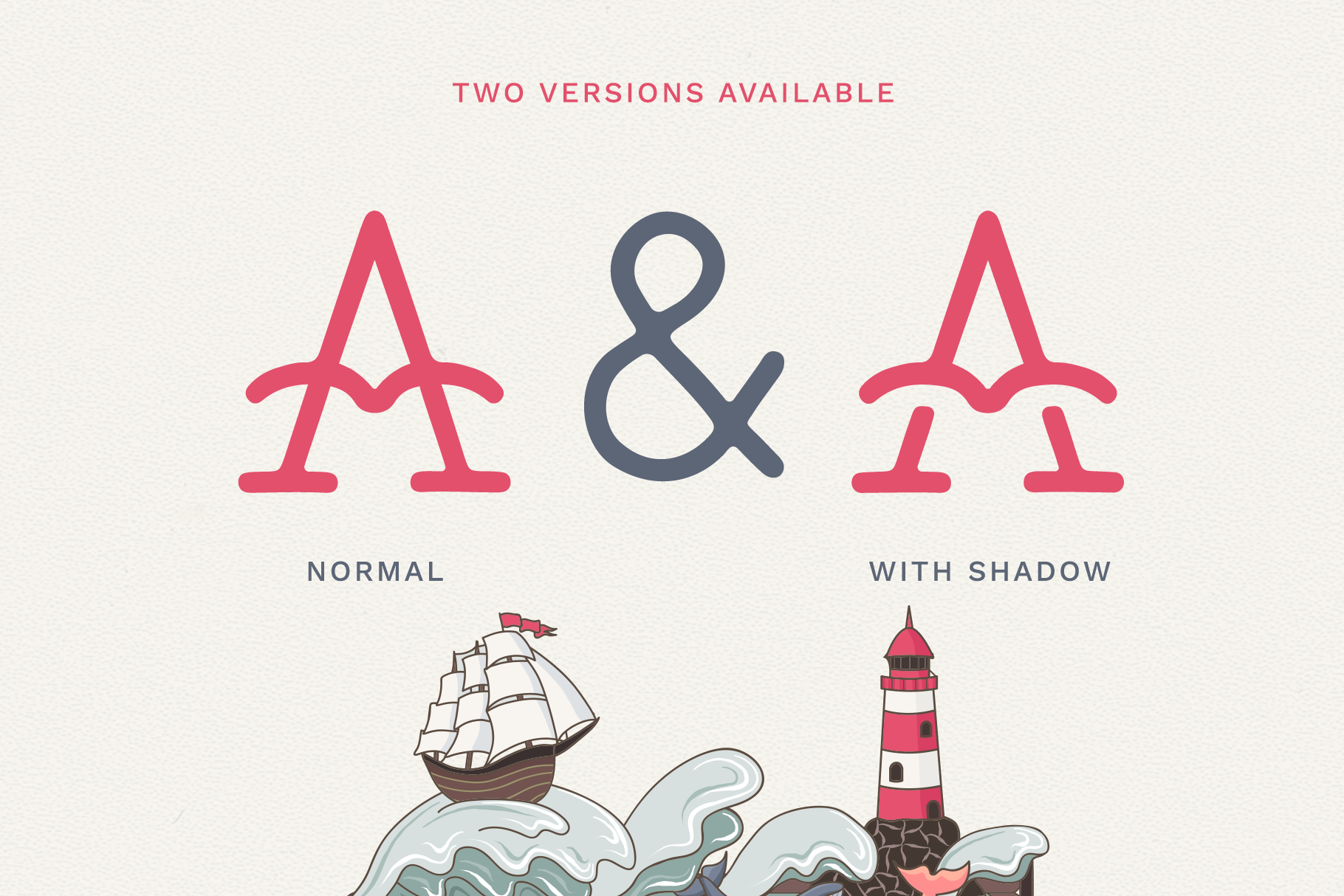 The Bearded Sailor - Tattoo Font / Line Font / Logo Font example image 2