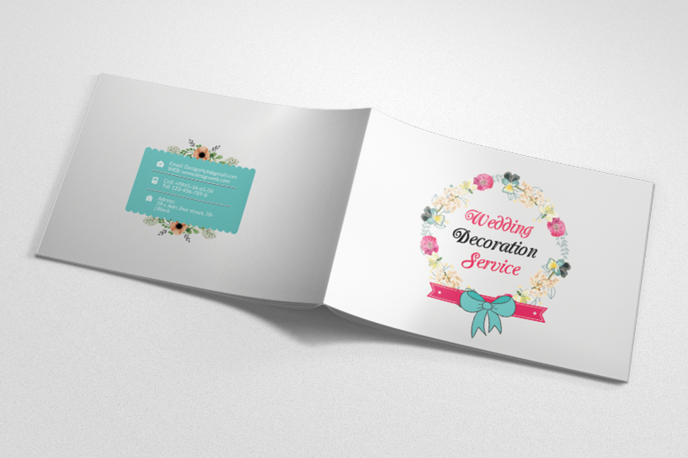 Wedding Planner Square Bifold Brochure example image 3