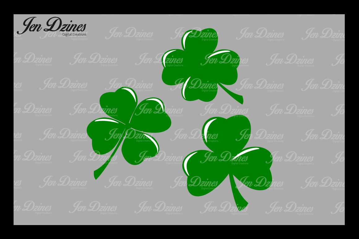 Lucky Clovers SVG DXF EPS PNG example image 1