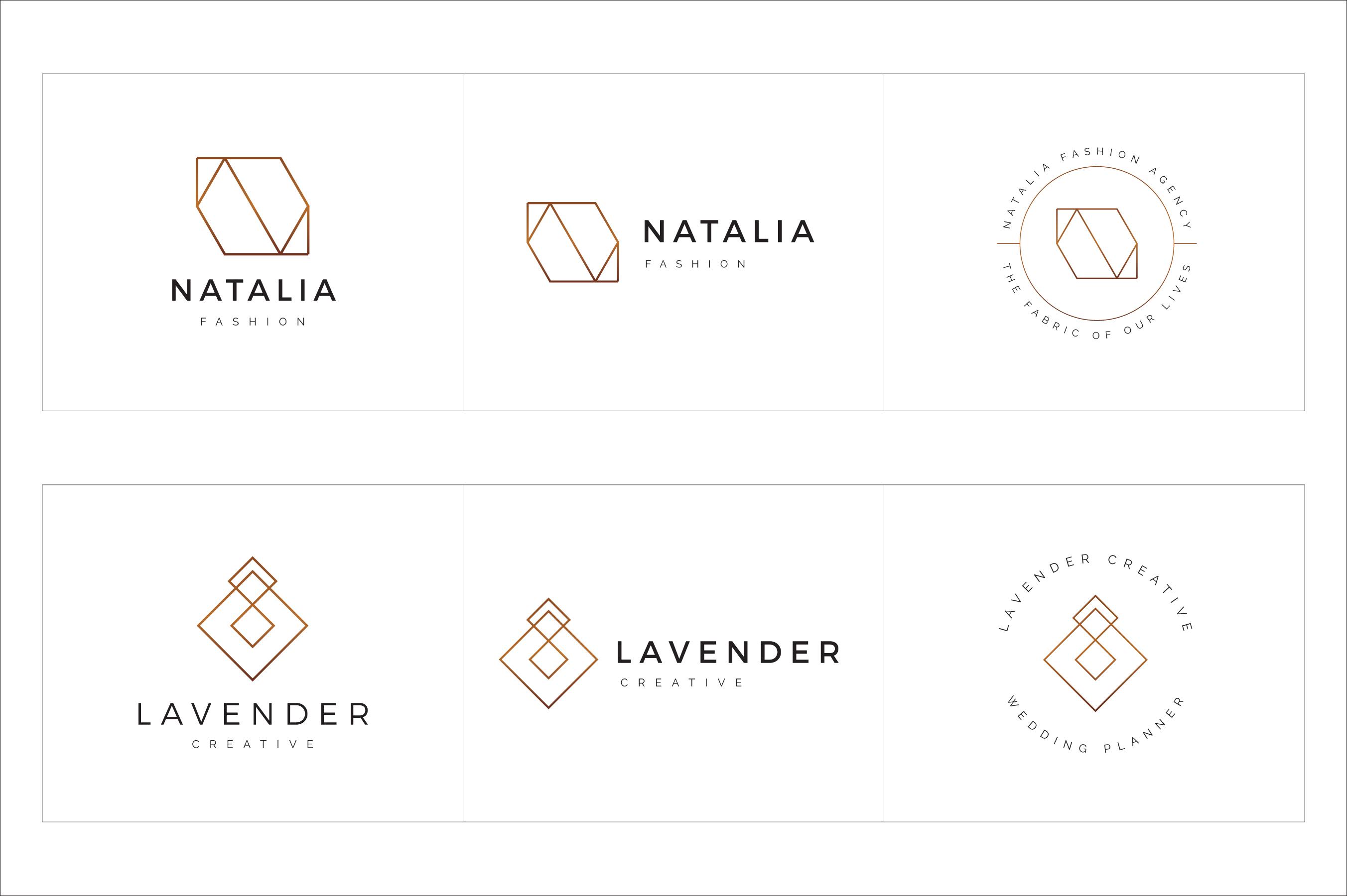 300 Geometric Premade Logo Bundle example image 23