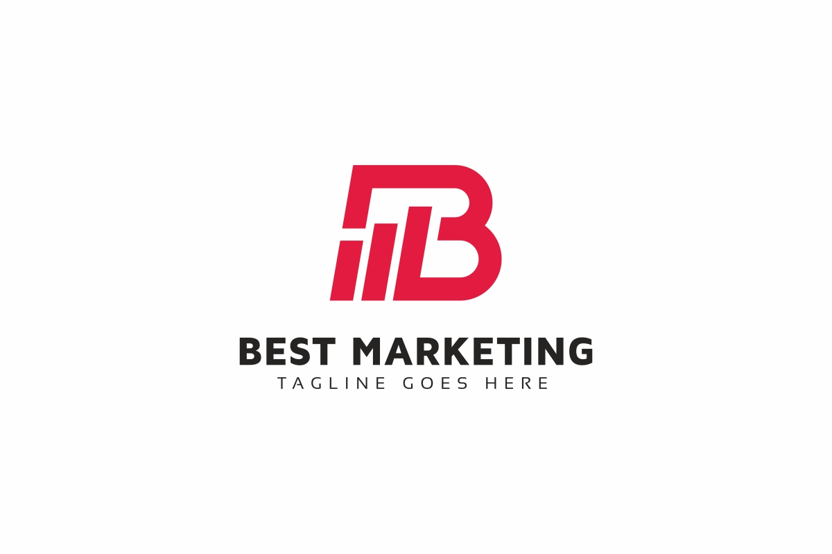 Best Marketing B Lettre Logo example image 2