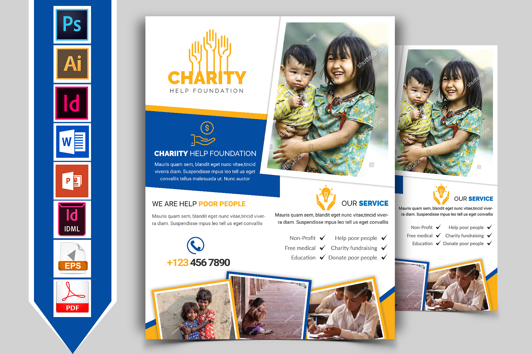 Charity Donation Flyer Vol-02 example image 1