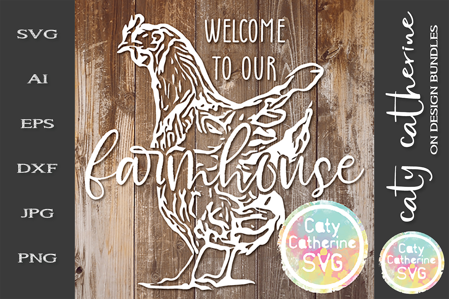 Welcome To Our Farmhouse Chicken Hen Signs SVG Cut File example image 1