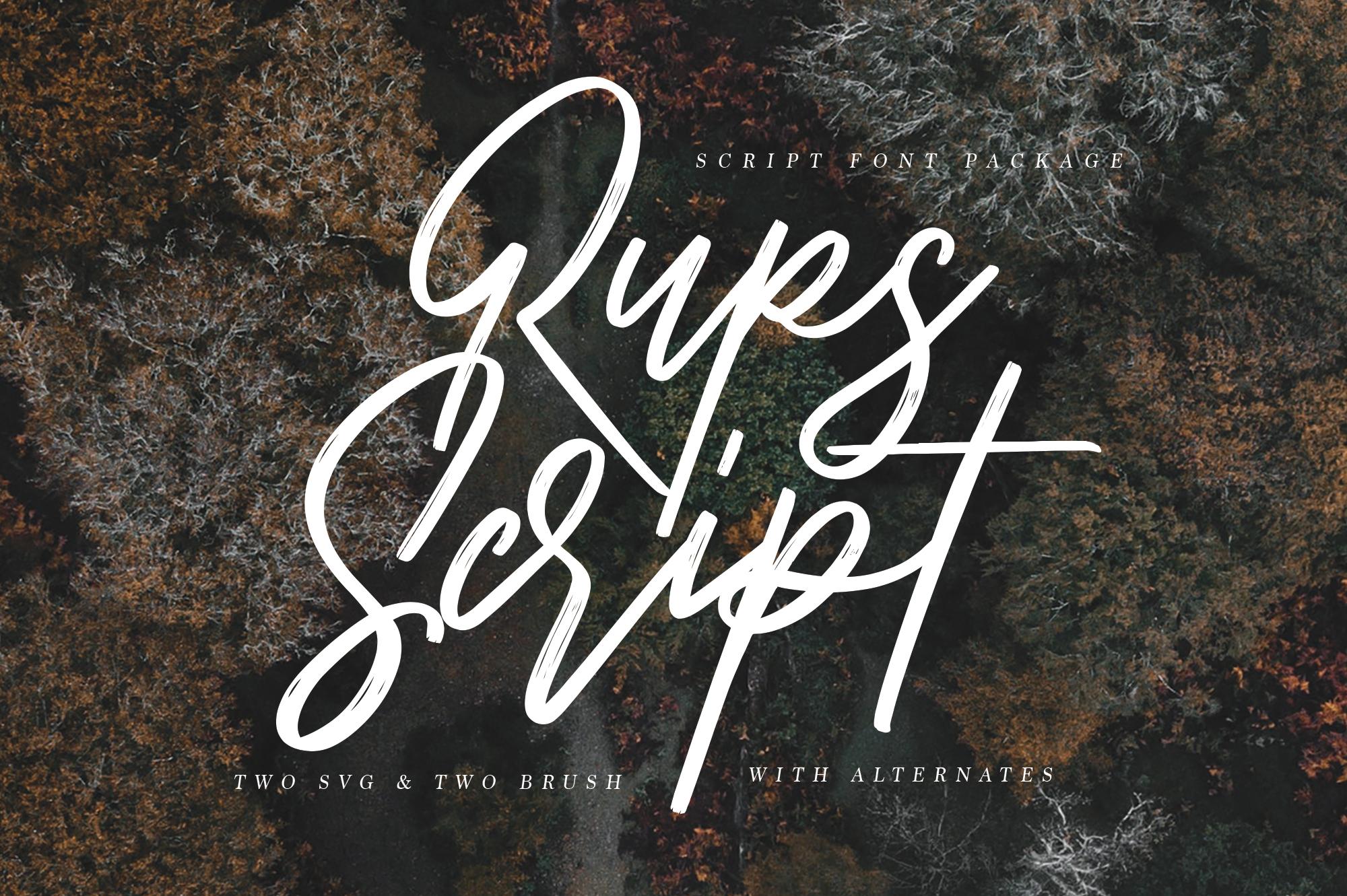 Rups Script - SVG Font example image 5