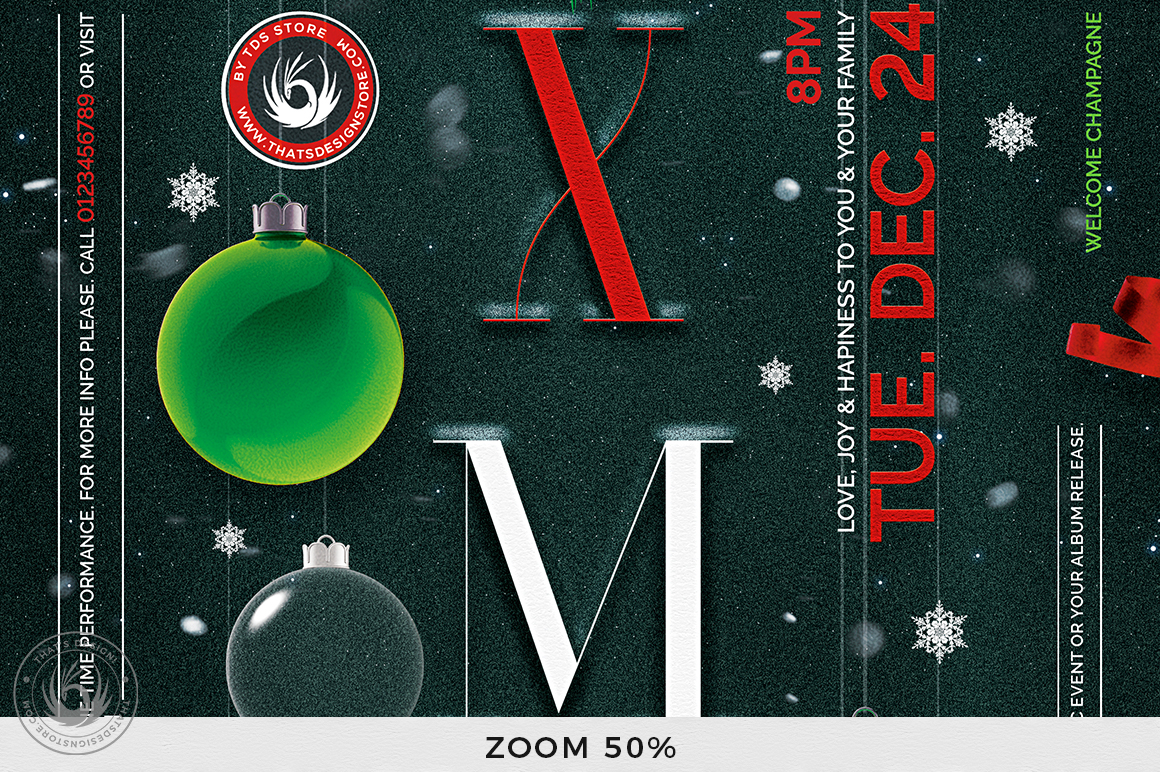 Christmas Eve Flyer Template V13 example image 7