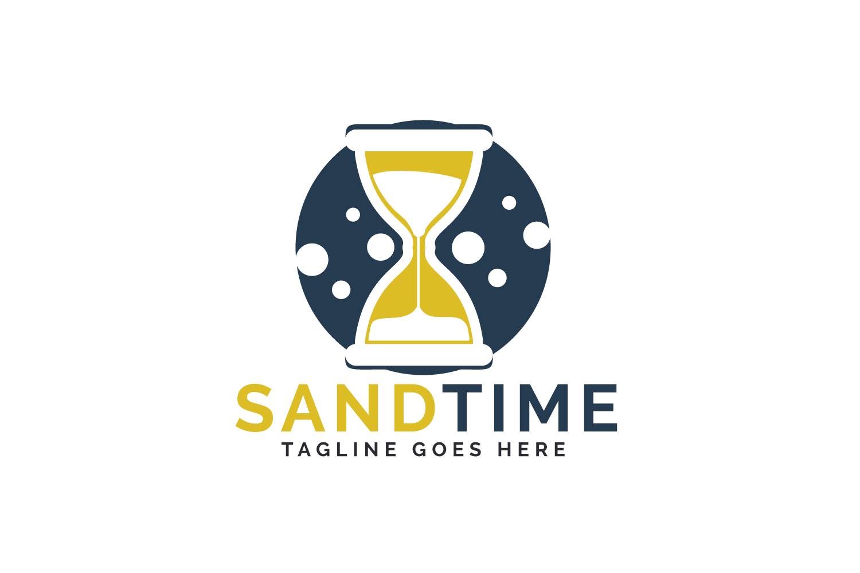 Sand time logo design. Hourglass logo design. example image 2