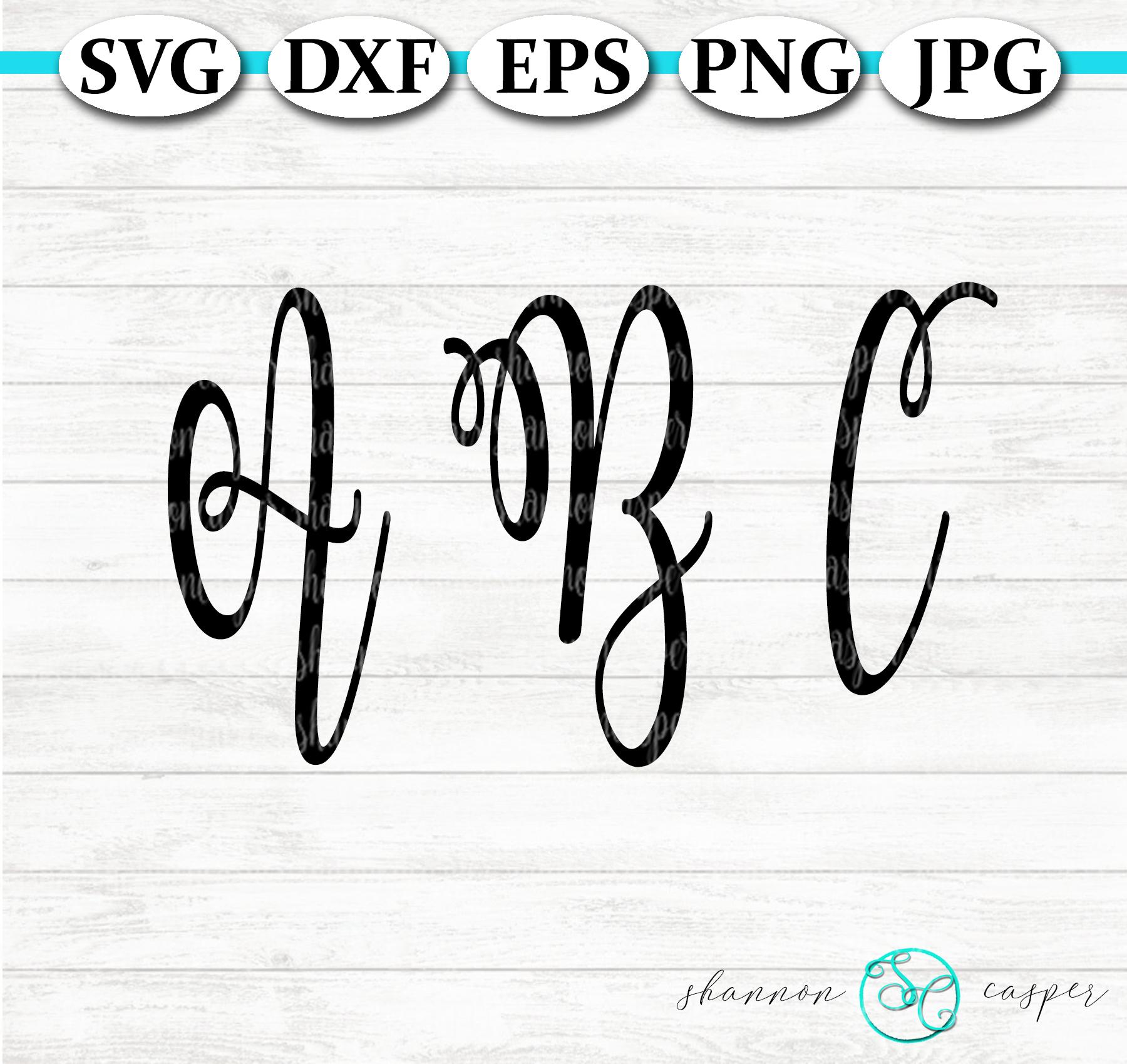 Script SVG Font Letter and Number Set example image 6