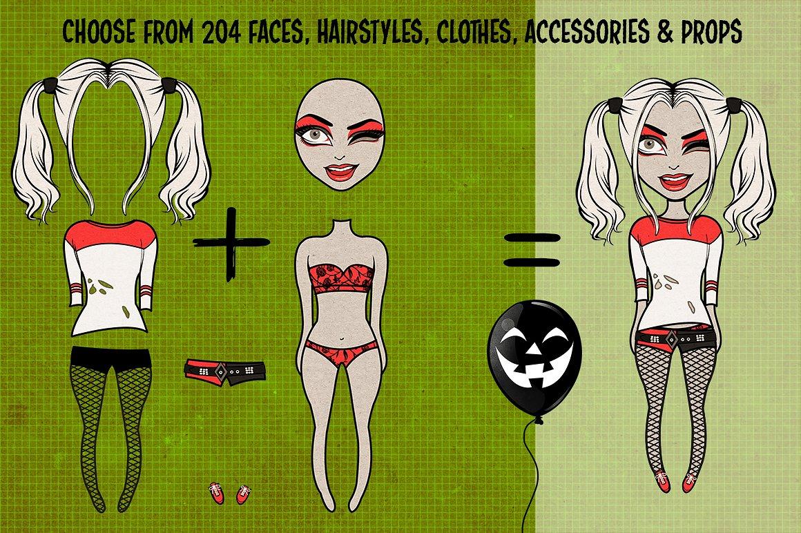 Halloween Girls Character Creator example image 2