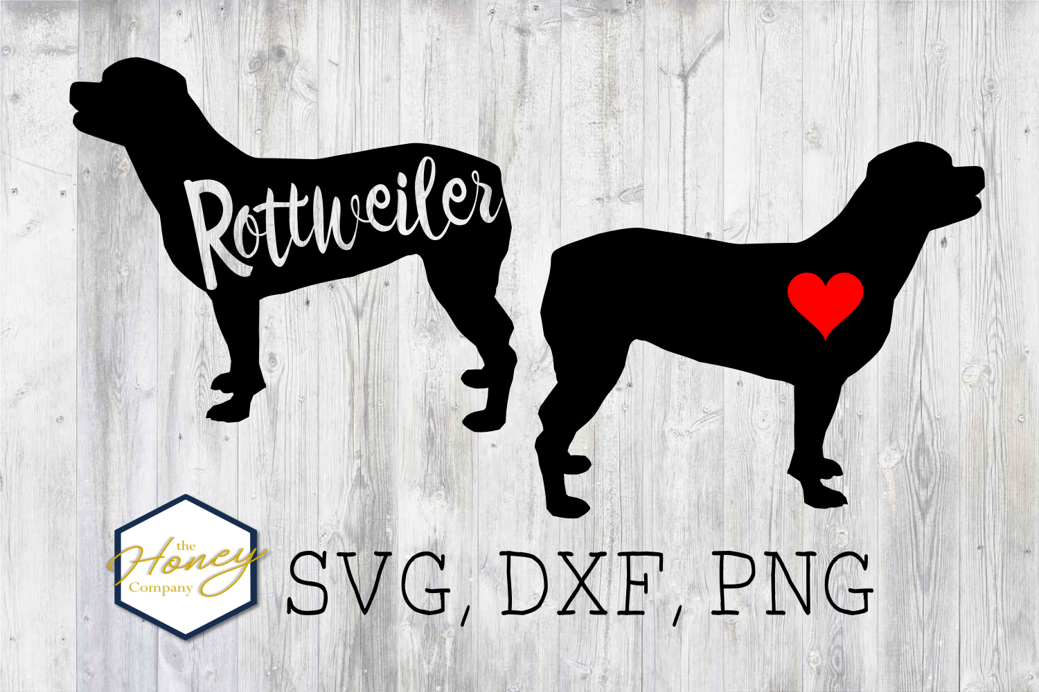 Rottweiler SVG PNG DXF Dog Breed Lover Cut File Clipart example image 1