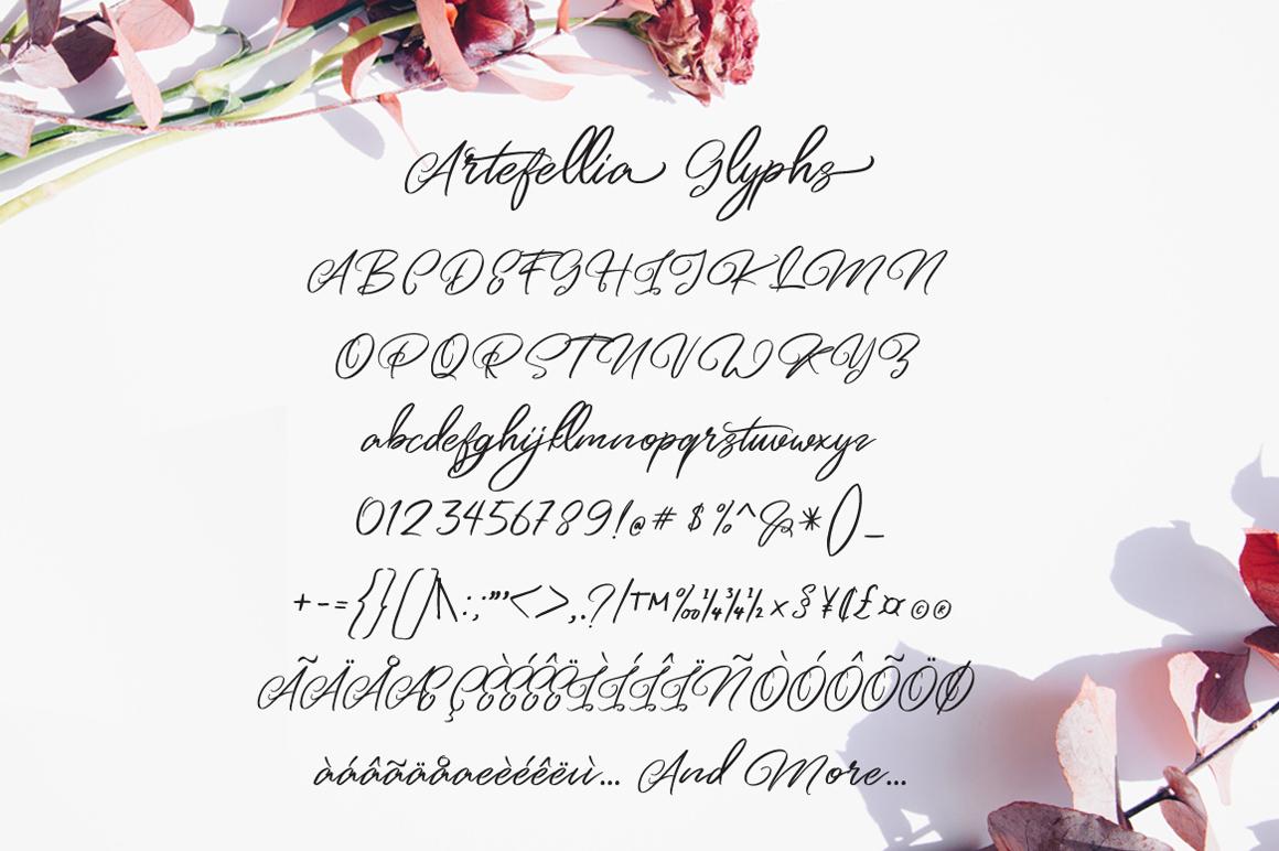 Artefellia - Handwritten Font example image 6