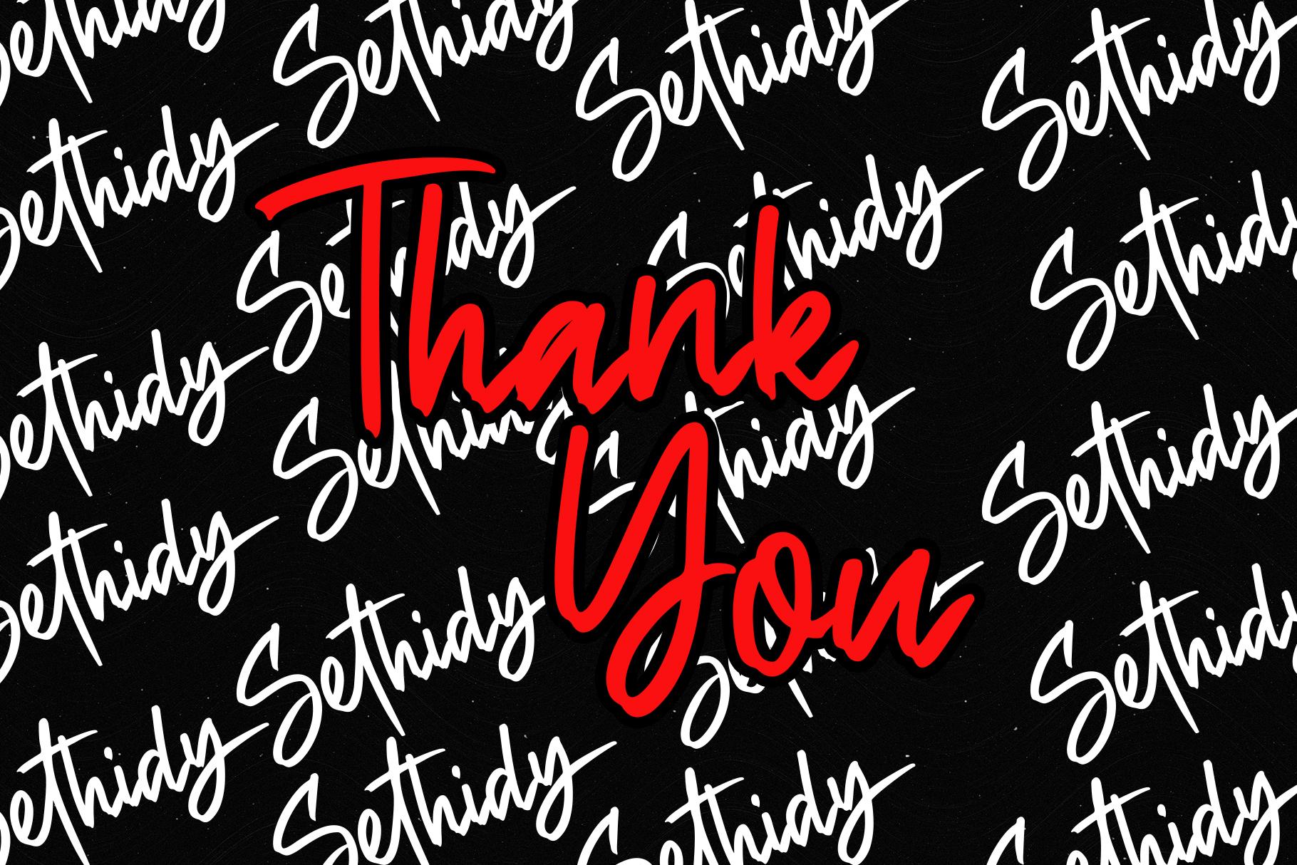 Sethidy - Handwritten Font example image 9