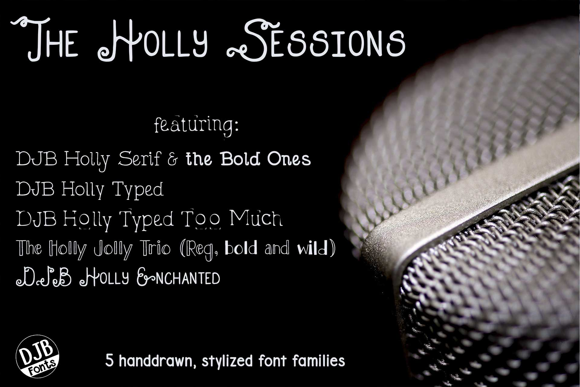 DJB Holly Sessions Font Bundle example image 1