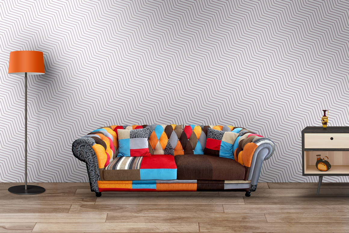 Delicate seamless striped patterns. example image 5