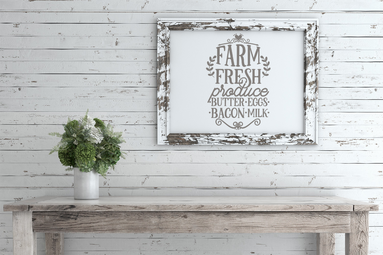 Farm Fresh Produce Wood Sign SVG example image 2