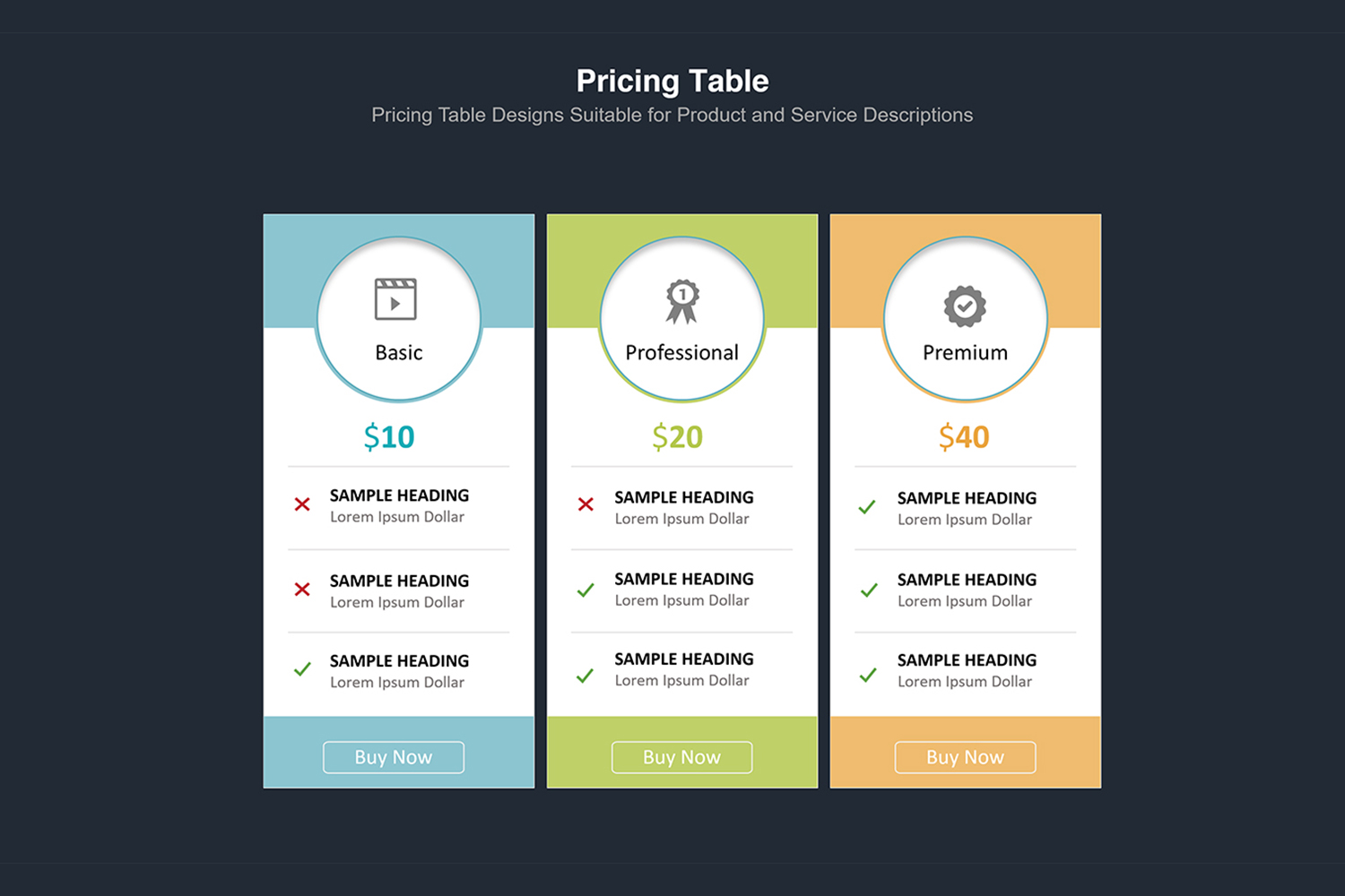 Price Table  Infographic Presentation example image 5