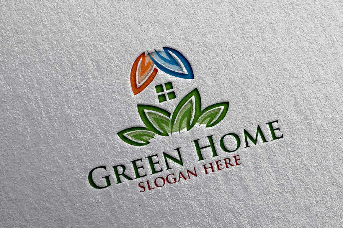 Real estate Logo, Green Home Logo 16 example image 5
