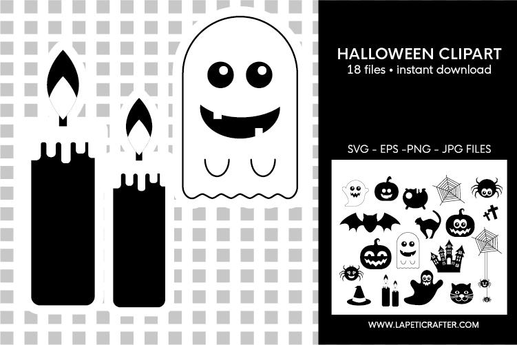 Halloween silhouette, halloween black clipart, digital stick example image 9