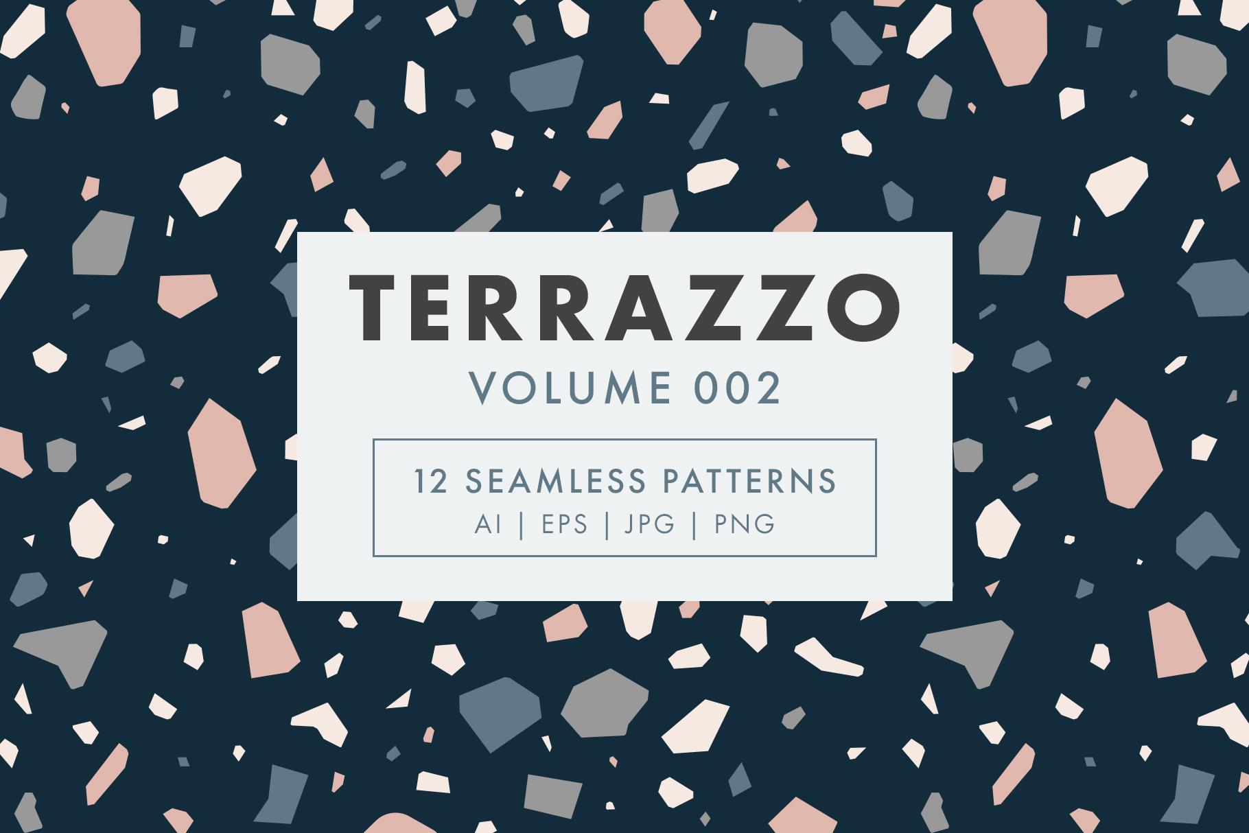 Terrazzo Seamless Patterns Vol. 002 example image 1