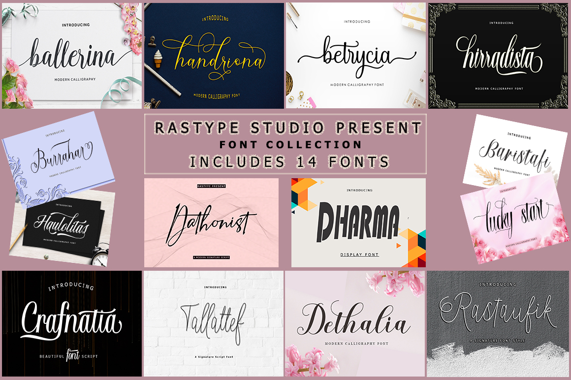 14 IN 1 FONT BUNDLE example image 1