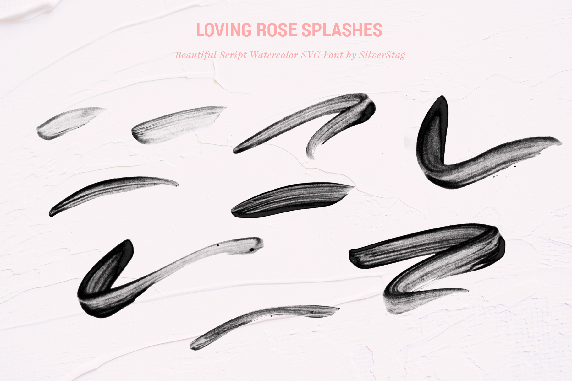 Loving Rose SVG Watercolor Font Pack - Hand Drawn Font example image 12