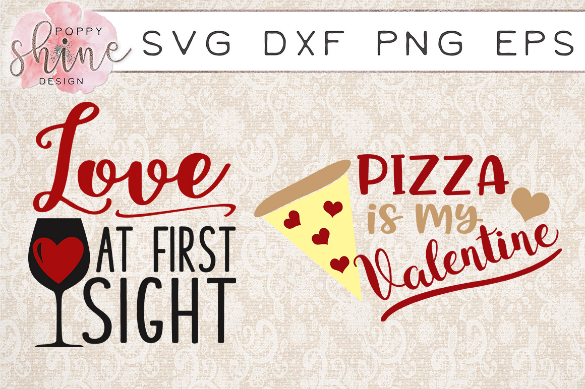 Valentine's Day Bundle of 11 SVG PNG EPS DXF Cutting Files example image 4