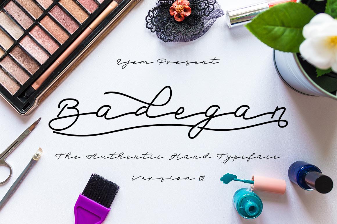 Badegan Script_OFF 30% example image 1