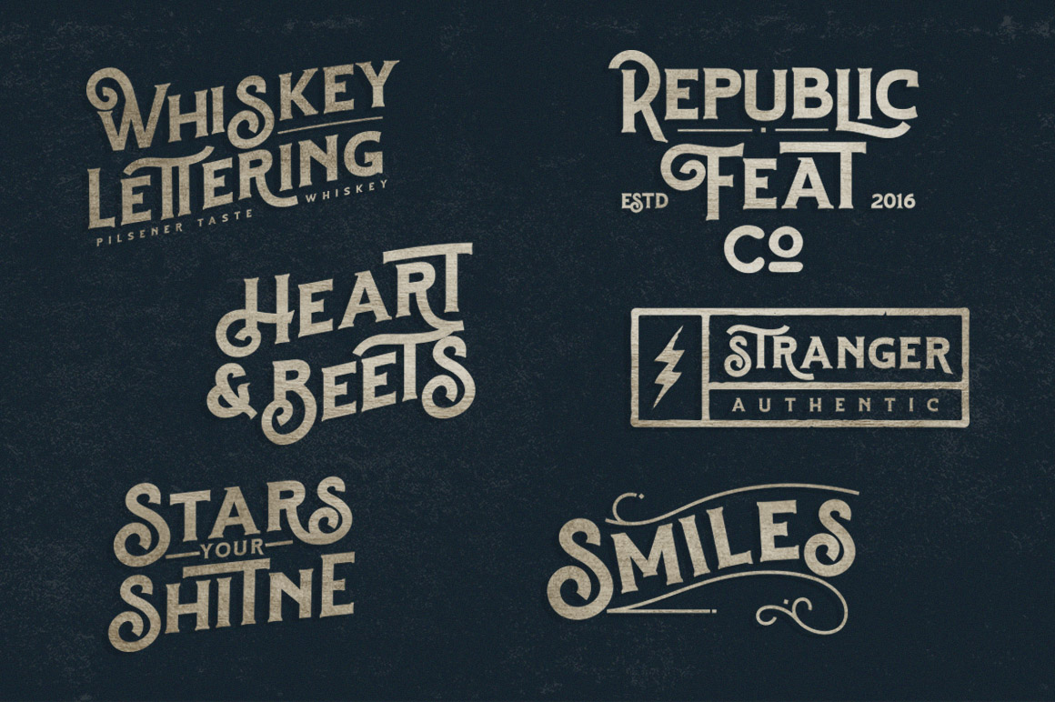 Hartons Vintage Typeface and Extras example image 9