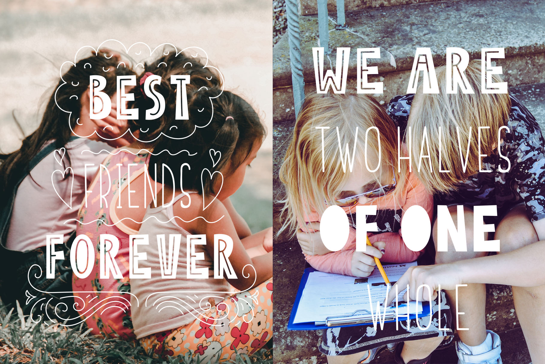 Friends Forever - Childrens font duo example image 2