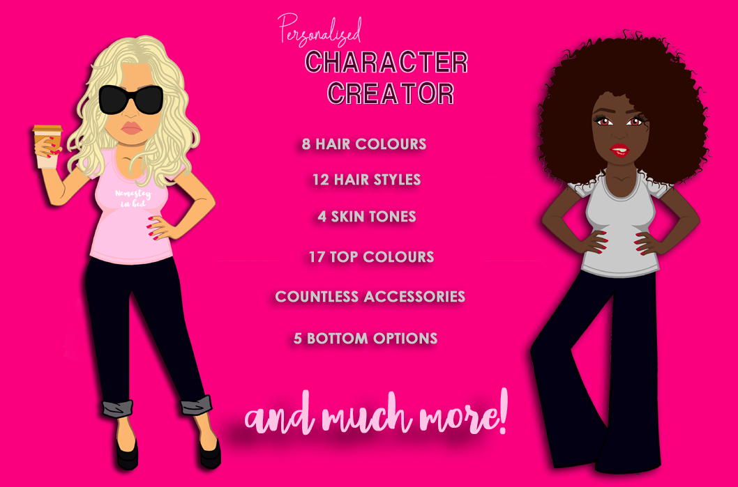 Personalised Character Creator | Avatar | Female Clip Art example image 10