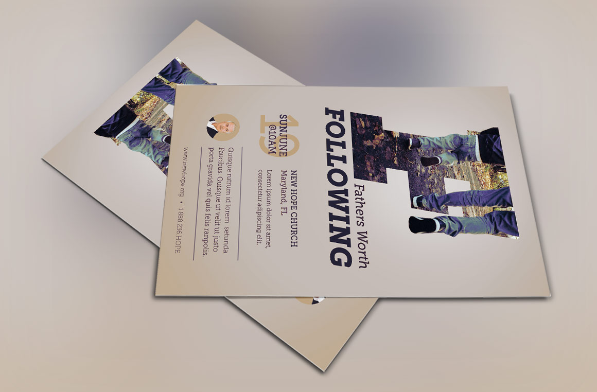 Fathers Worth Following Flyer Template example image 4
