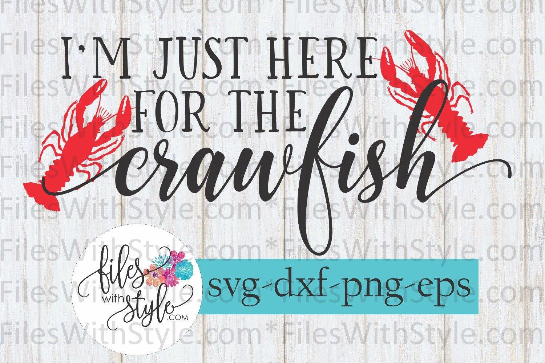 CRAWFISH BUNDLE Boil Cajun SVG Cutting Files example image 11