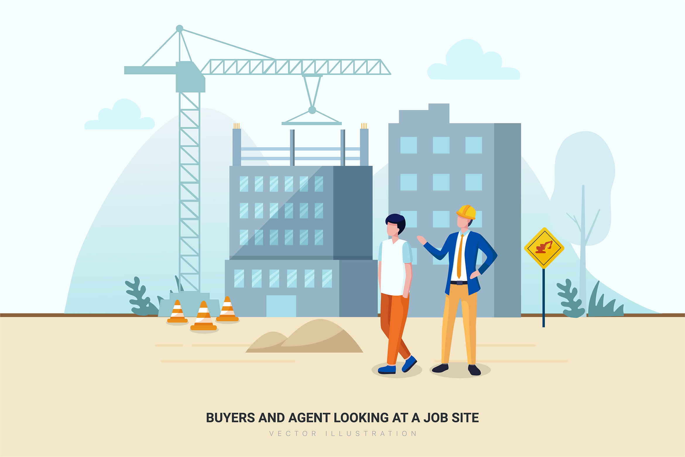 Construction & Real Estate Vector Illustration - Part 30 example image 6