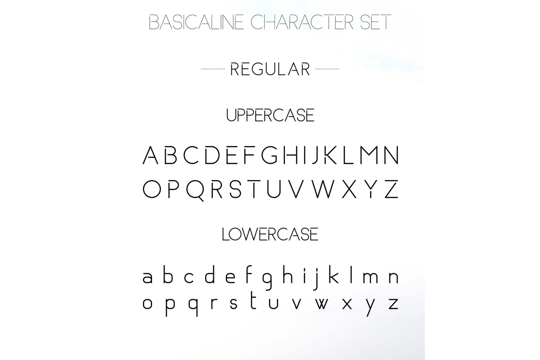 Basicaline Font Family - Sans Serif example image 10