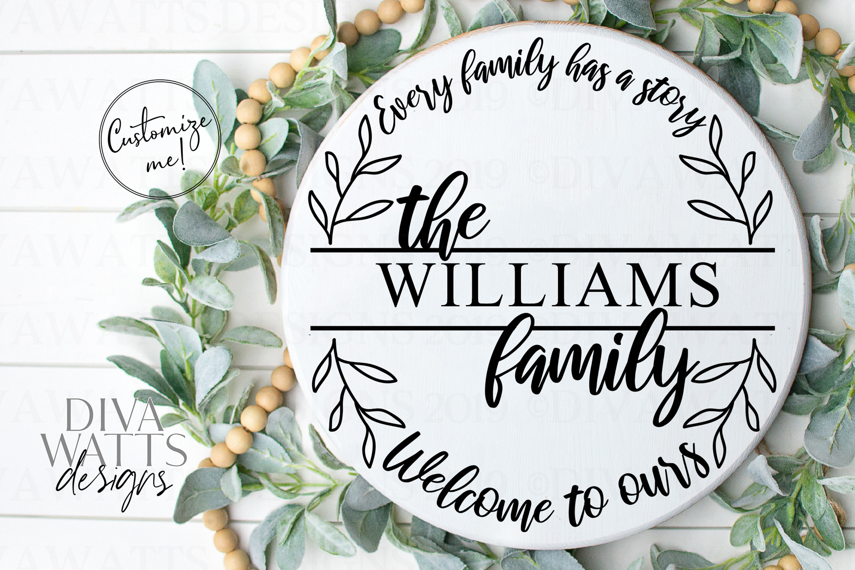 Every Family Has A Story Welcome To Ours - Last Name SVG example image 1