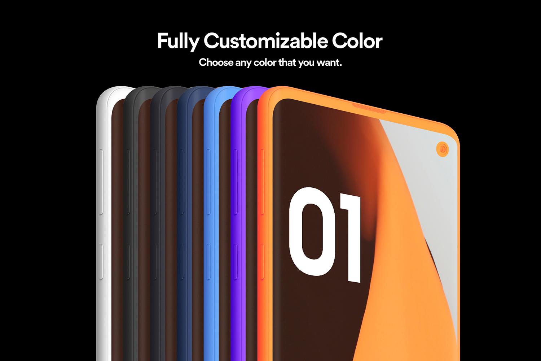 Samsung S10 - 21 Clay Mockups - 5K - PSD example image 4