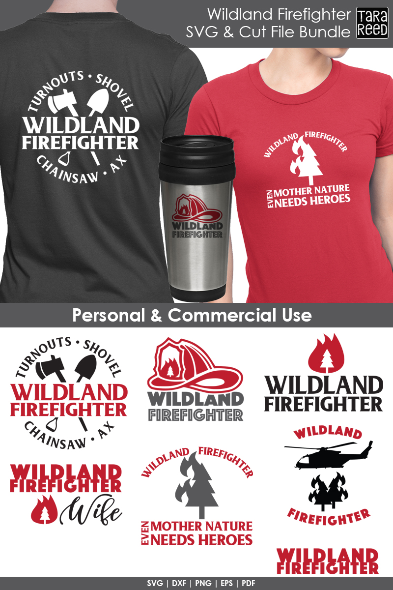 Wildland Firefighter - Firefighter SVG and Cut Files example image 2