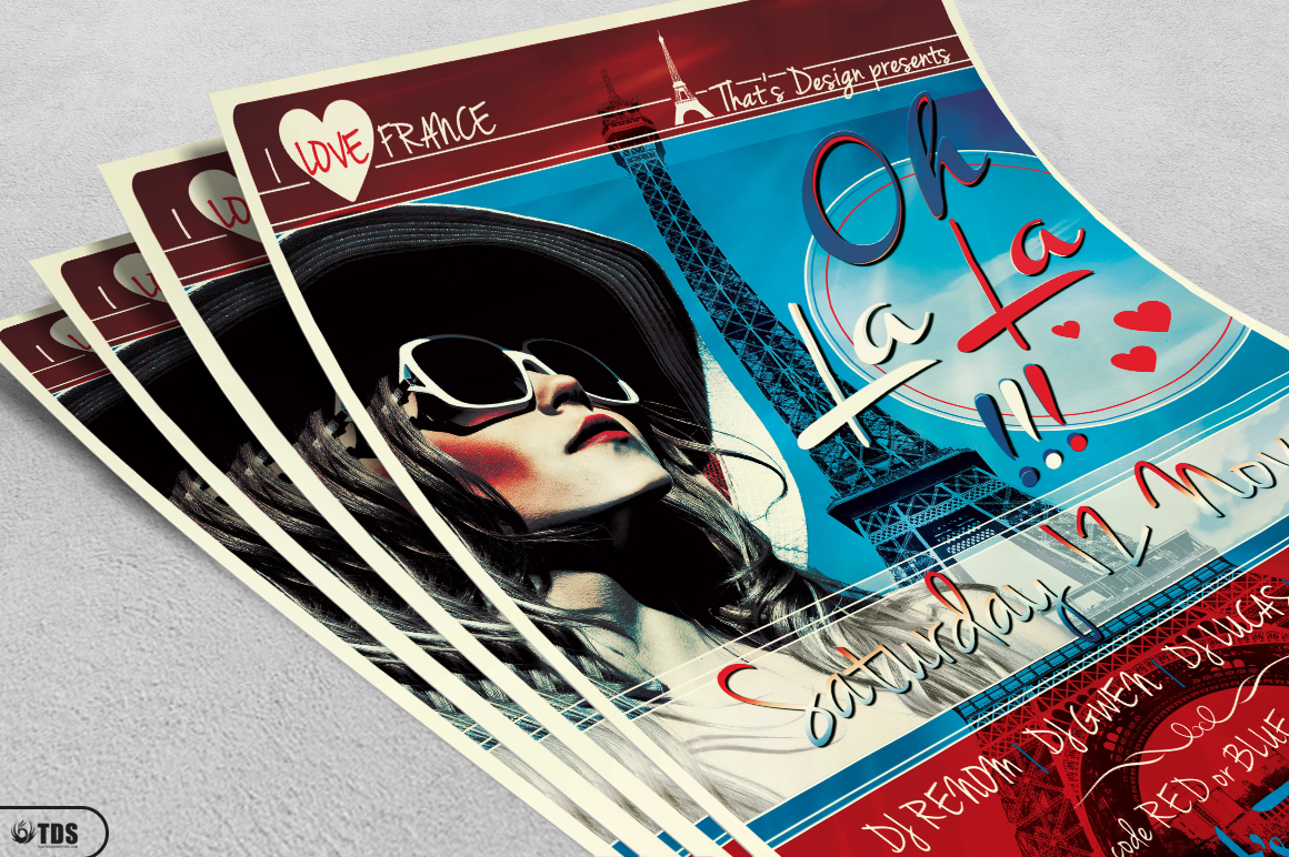 French Party Flyer Template V2 example image 3