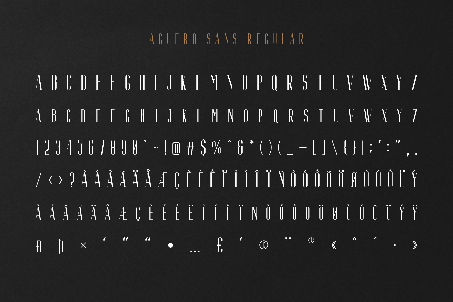 Aguero Sans - Font Family example image 6
