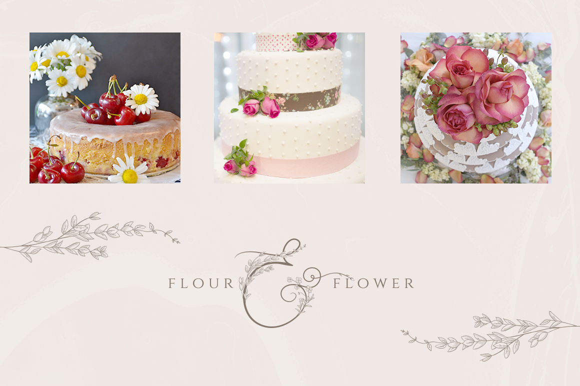 Flowered Monogram & Logo Collection example image 8