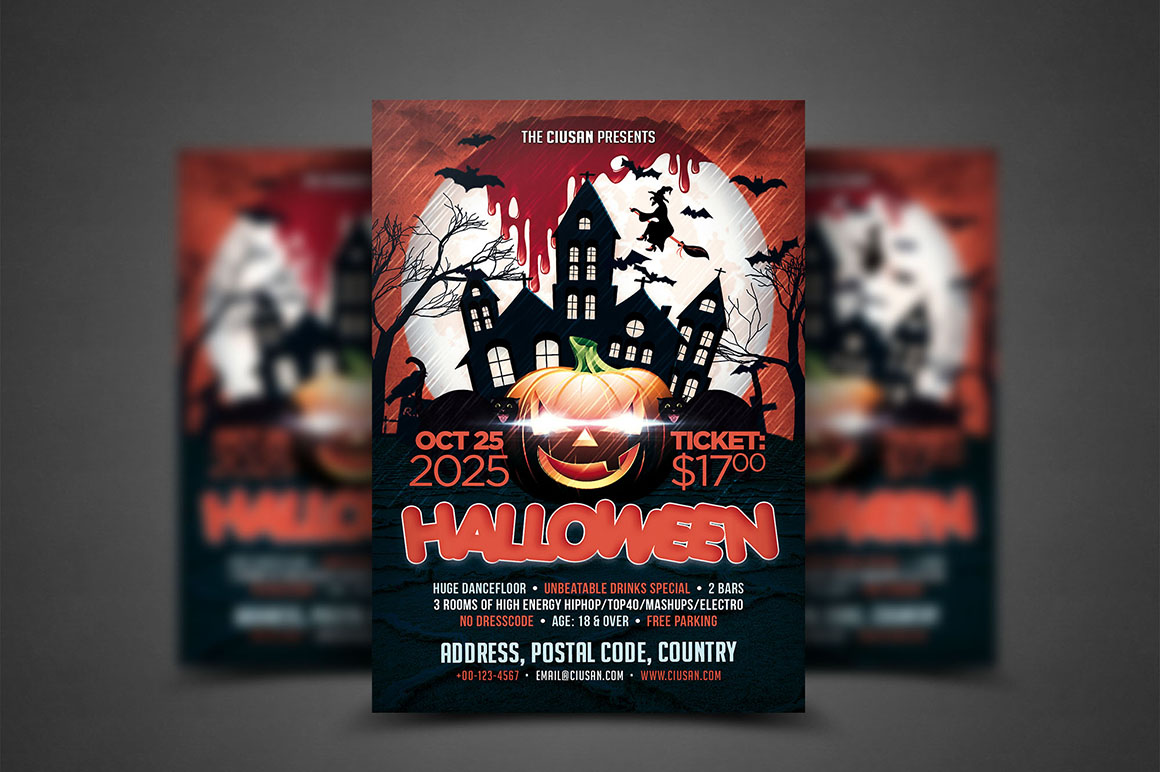 Halloween Flyer Template - Bundle example image 6