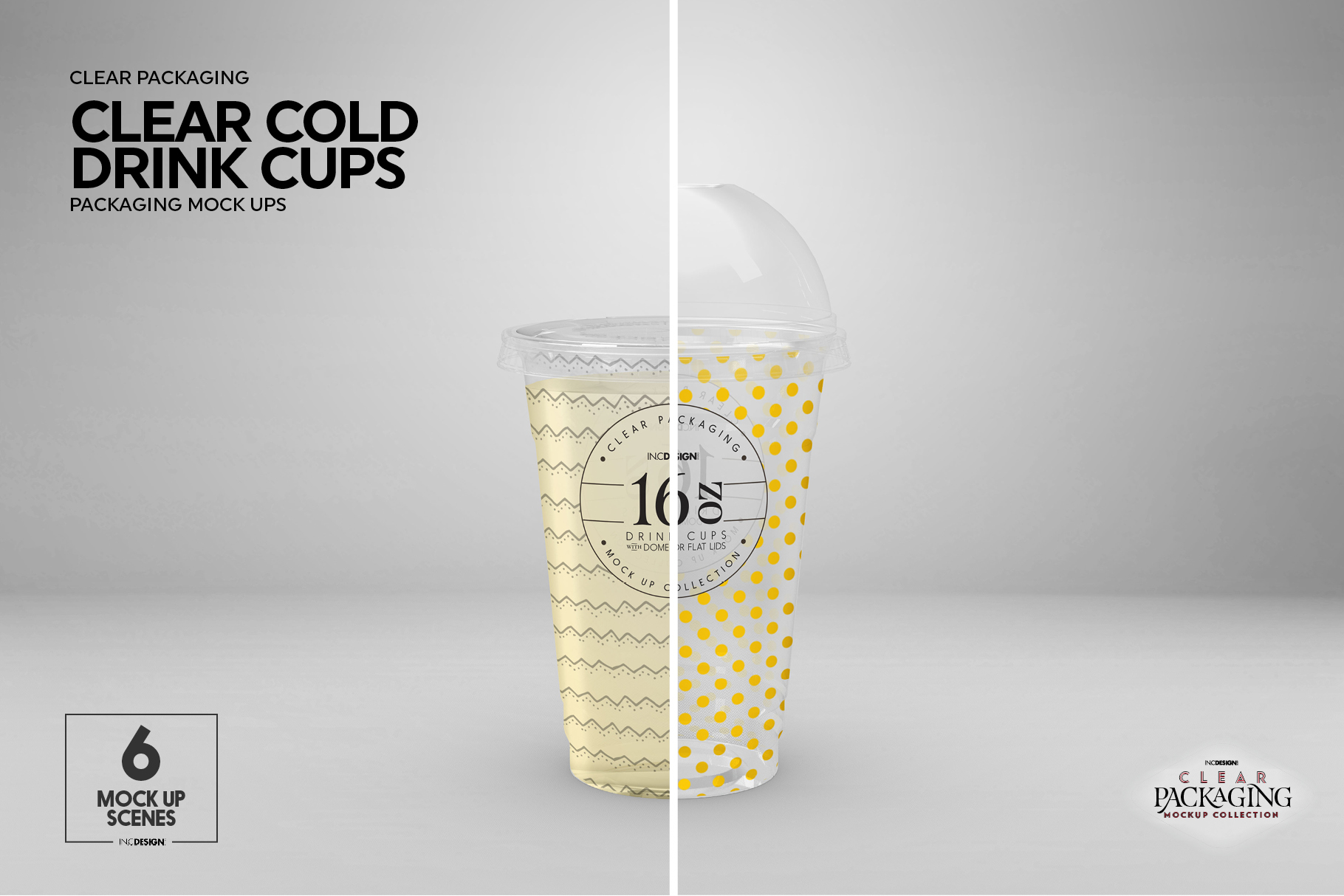 Clear Cold Drink Cups Packaging Mockup example image 14
