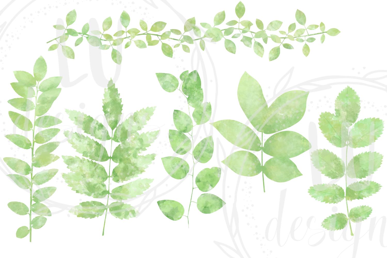 Watercolor Greenery example image 2