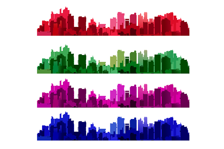 Silhouette of a city landscape example image 1
