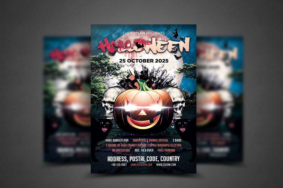 Halloween Flyer Template - Bundle example image 7
