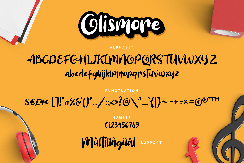Olismore - Playfull Font example image 6