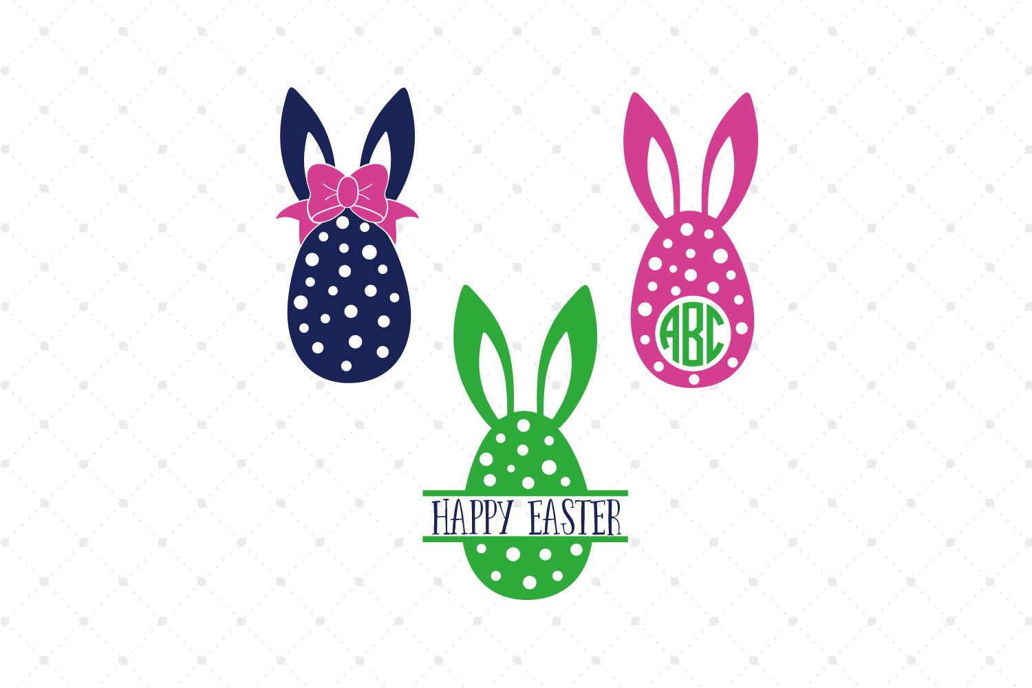 Easter Eggs SVG Cut files example image 1