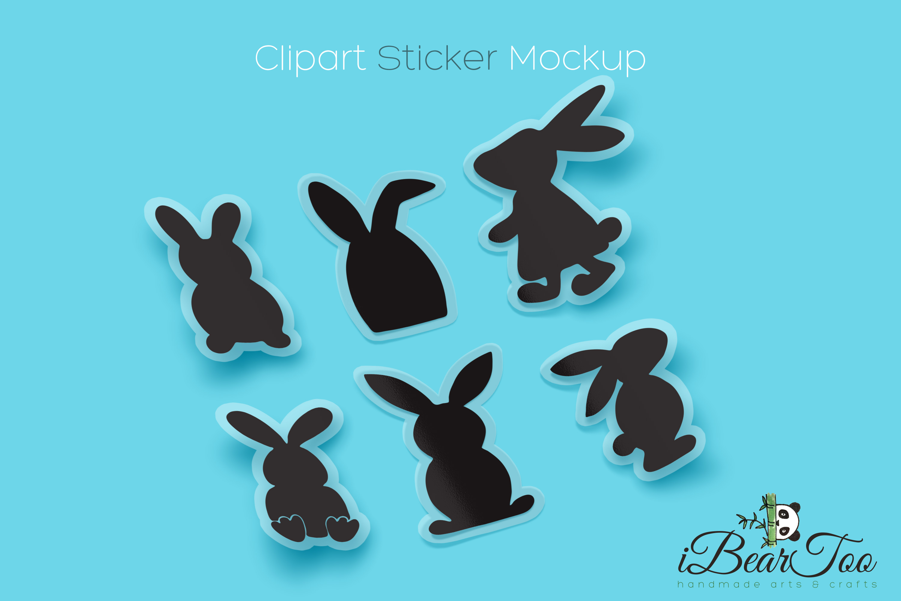 Easter Bunnies SVG Bundle Clipart Rabbits Vector Drawing example image 3