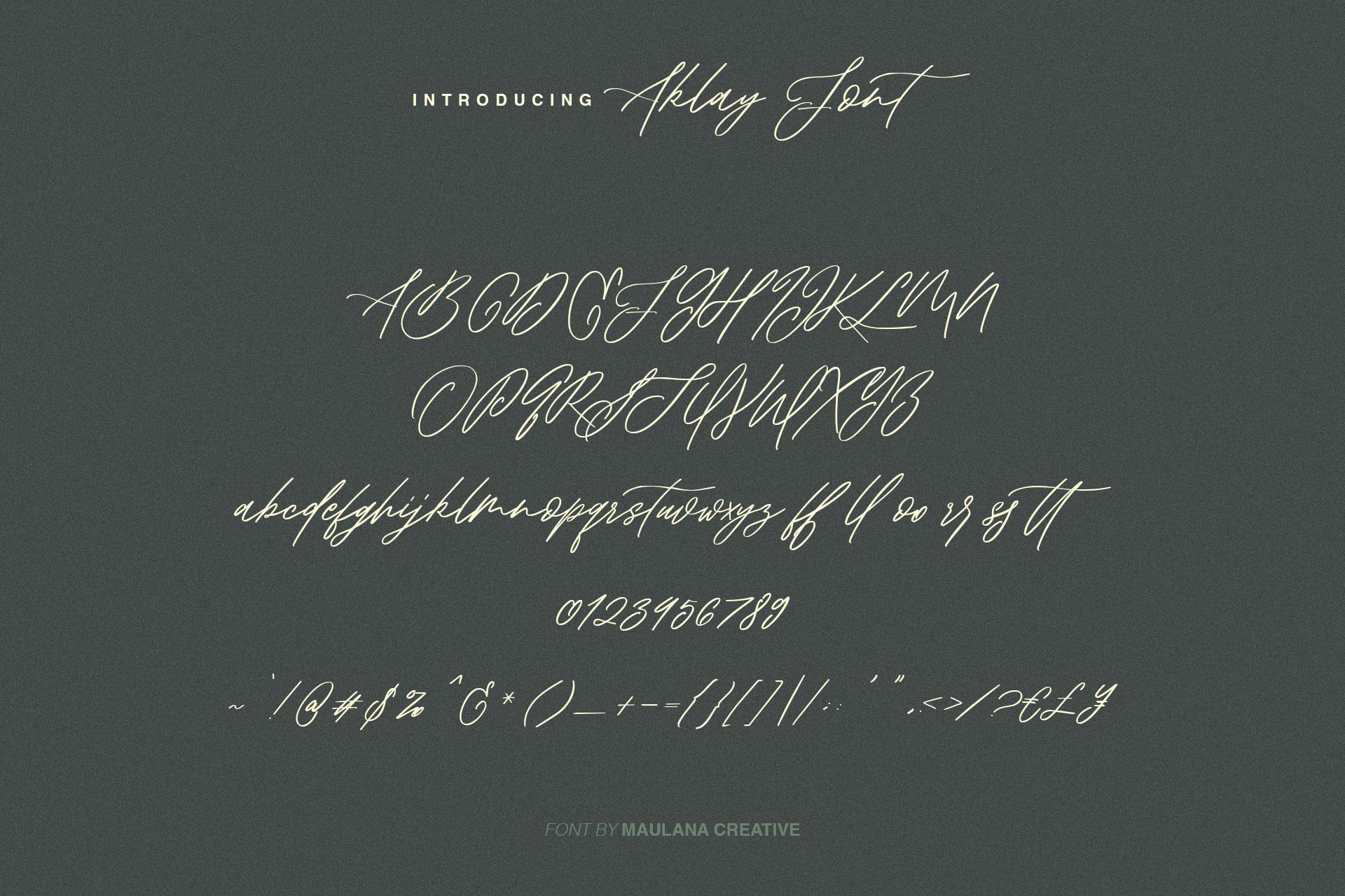 Aklay - Handwritten Font example image 8