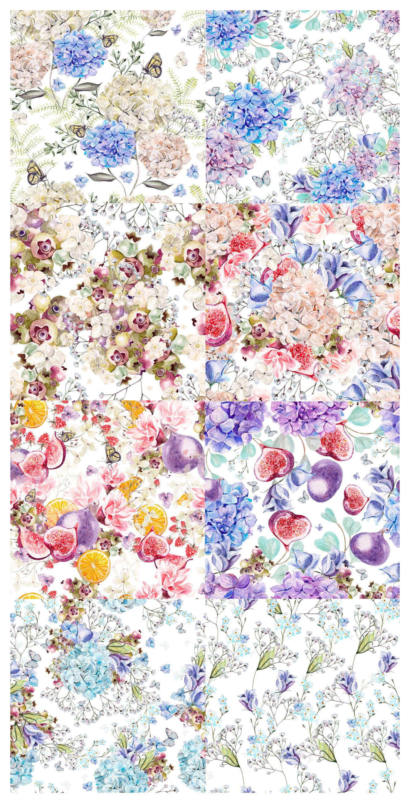 HandDrawn WATERCOLOR Wedding Flowers example image 4