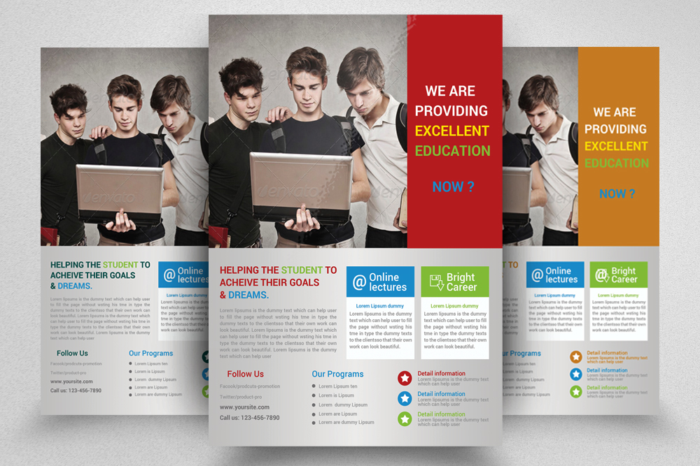 6 Education Flyers Bundle example image 4